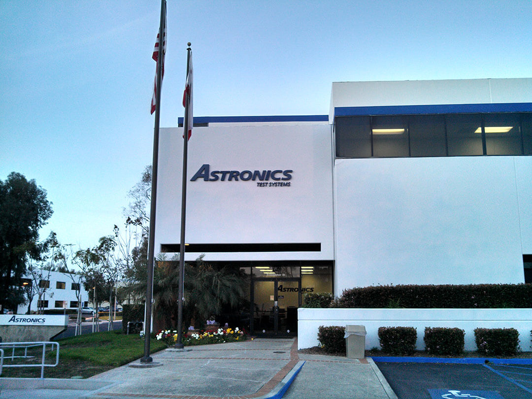 Astronics Building Sign