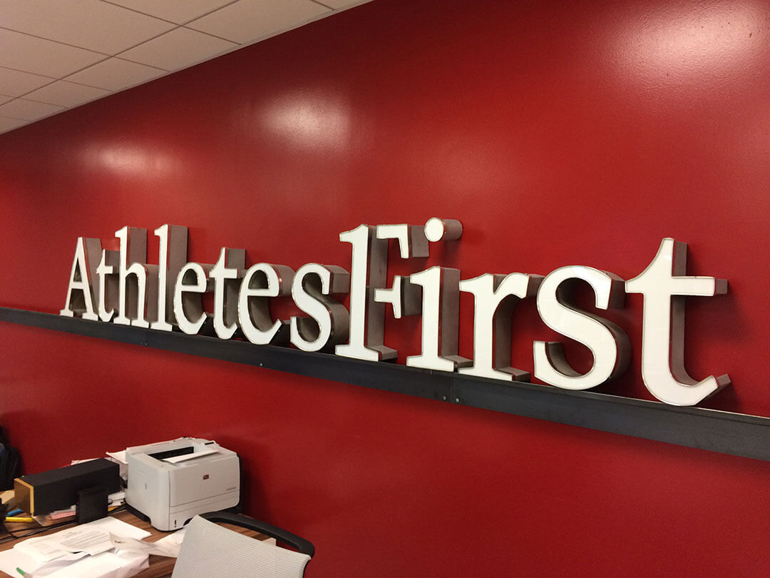 Athletes First Channel Letters