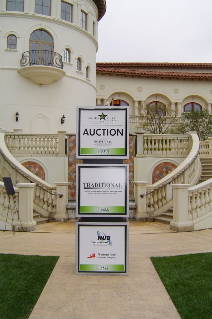Auction Tower Display