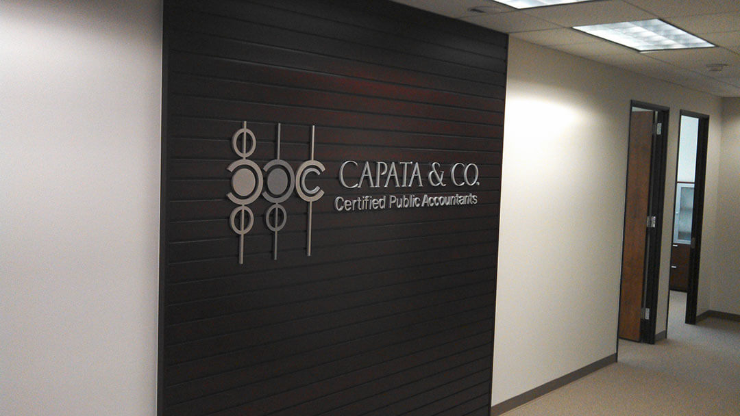Capata Dimensional Lobby Letters