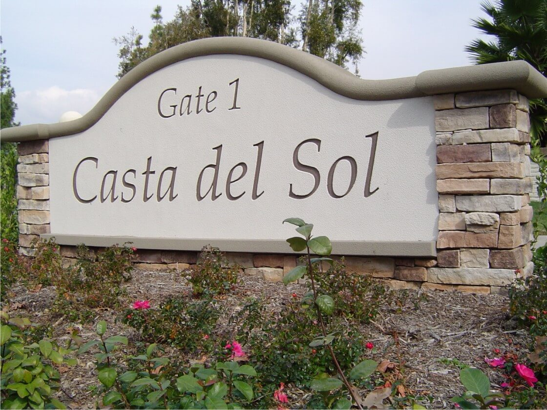 Casta del Sol Community Monument Sign