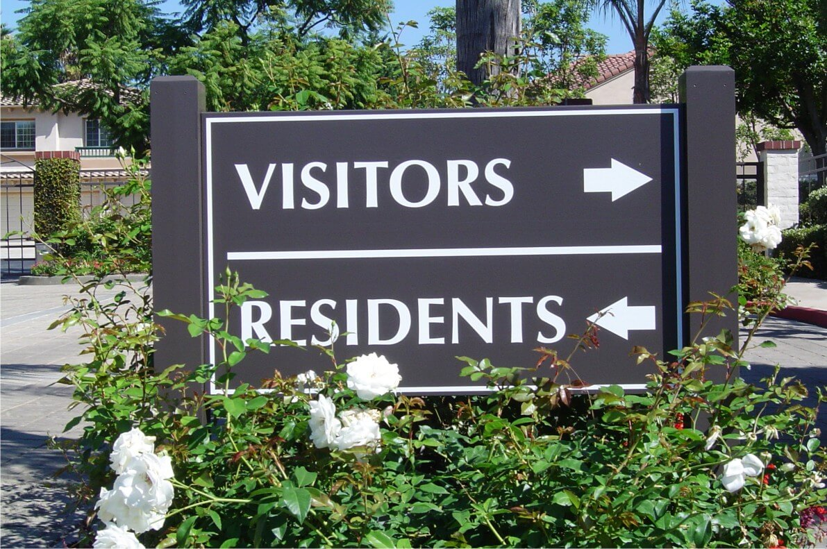 Community Entrance Directional Sign