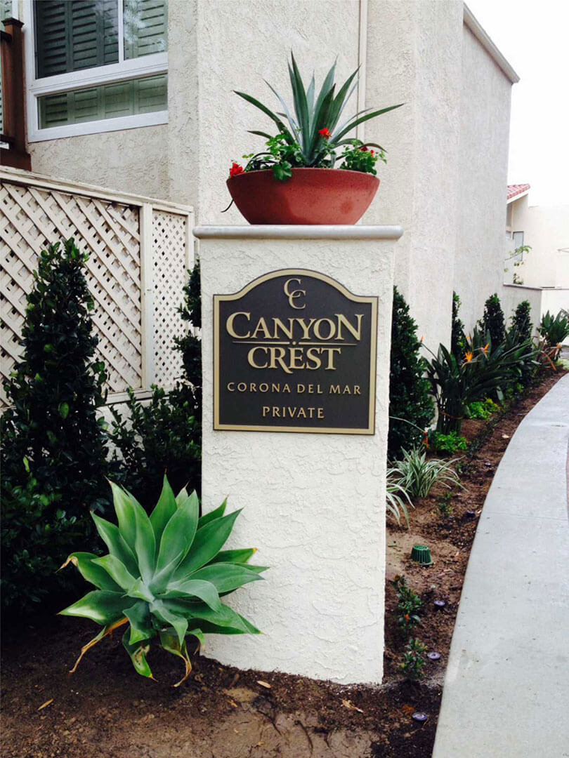Community ID Plaque Canyon Crest