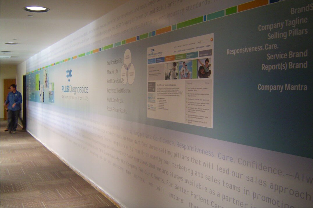 Plus Diagnostics Digital Print Wall Mural
