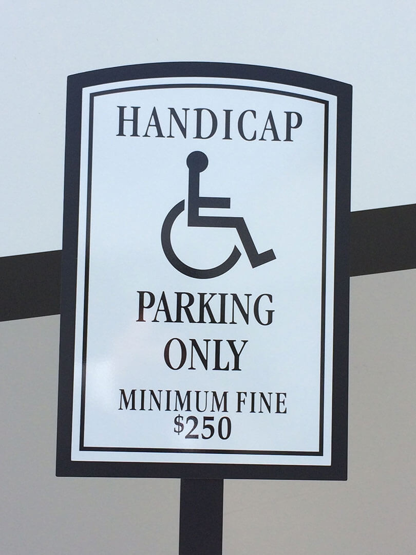 Handicap Parking Sign Architectural Post