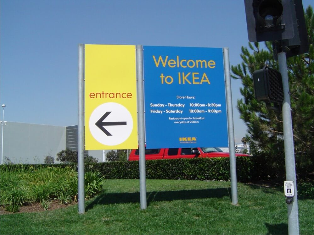 IKEA Welcome Entrance Sign