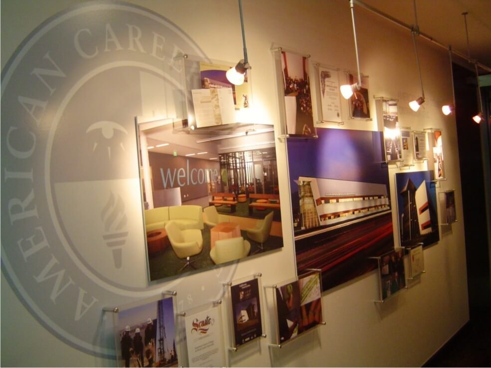 American Career College Interior Wall Feature