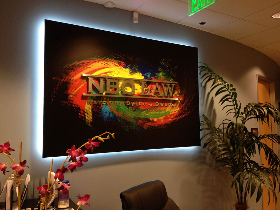 NBO Illuminated Lobby Sign