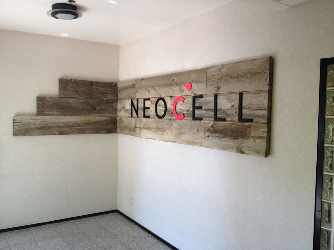 NEOCell Lobby Sign