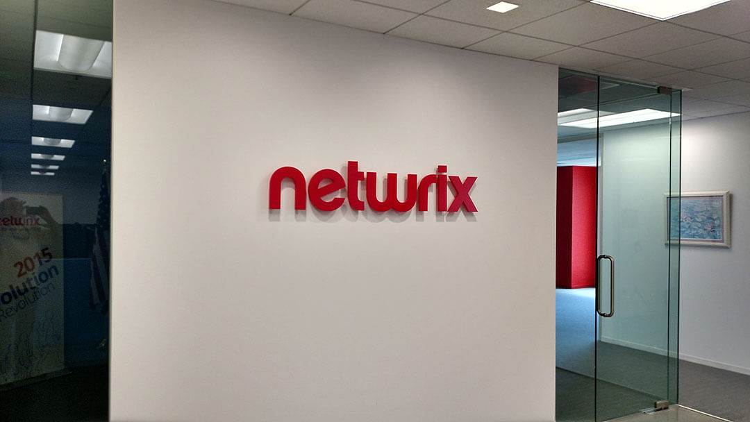 Netwrix Lobby Sign
