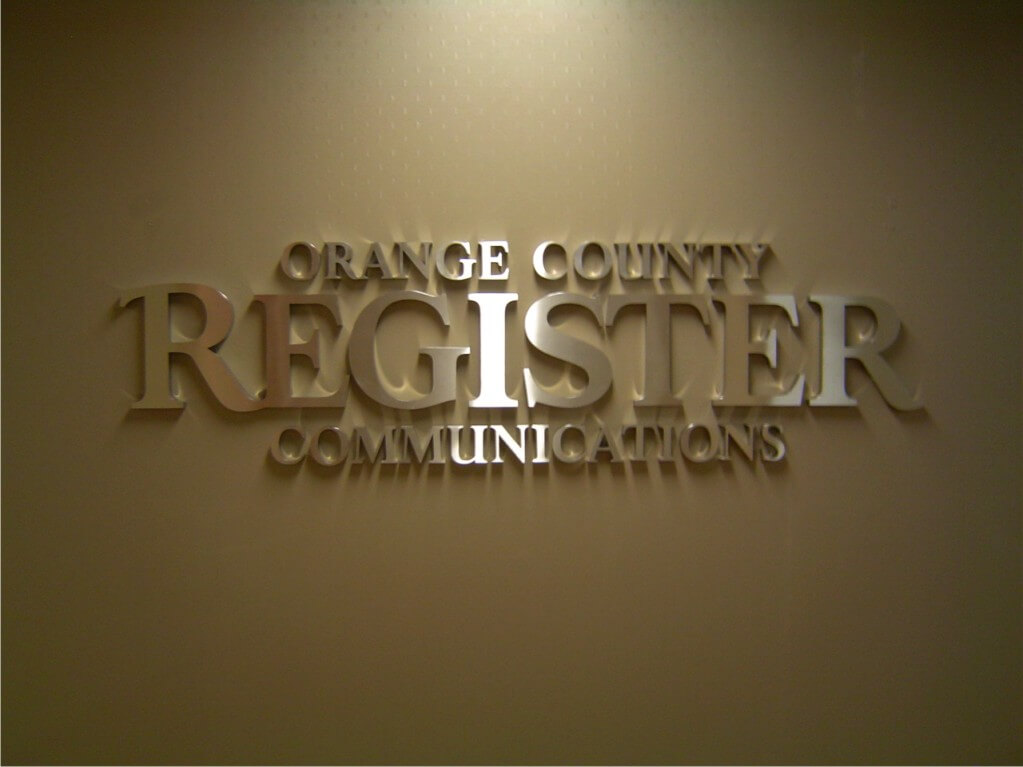 OC Register Interior Corporate Sign
