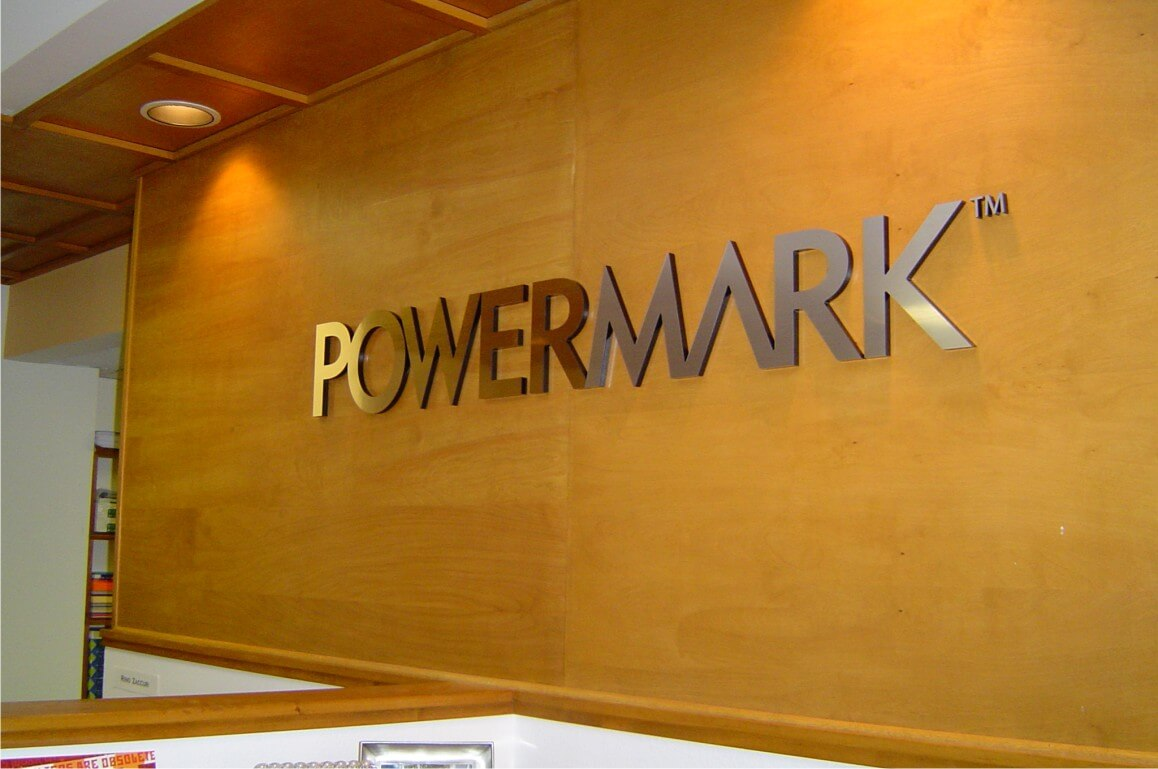 Powermark Brushed Aluminum Lobby Sign