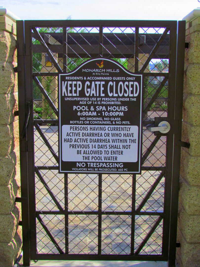 Monarch Gate Sign